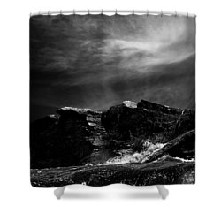 Over The Falls Backwards Shower Curtain by Bob Orsillo