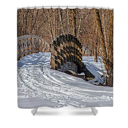 Over The River And Through The Woods Shower Curtain