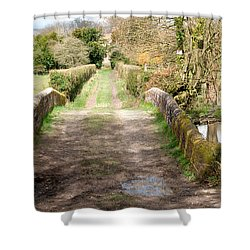 Shower Curtain featuring the photograph Over The River by Wendy Wilton