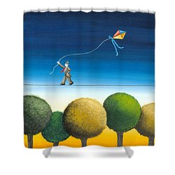 Over The Trees Shower Curtain