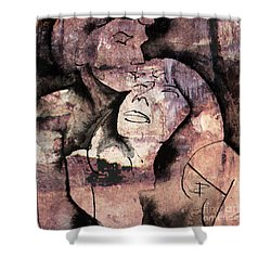 Shower Curtain featuring the painting Overlaps I by Paul Davenport