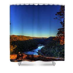 Shower Curtain featuring the photograph Overlook In The Fall by Jonny D