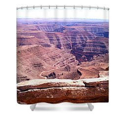Overlook Into The Layers Of Time Shower Curtain