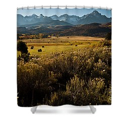 Overlook To Mt. Sneffles Shower Curtain by Steven Reed