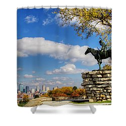 Overlooking Kansas City Shower Curtain