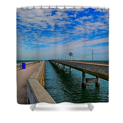 Overseas Highway Florida Keys Shower Curtain