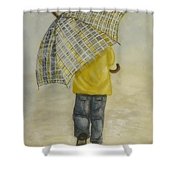 Oversized Umbrella Shower Curtain by Kelly Mills