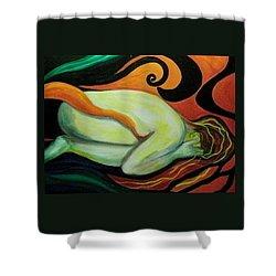Overwhelmed Shower Curtain by Carolyn LeGrand