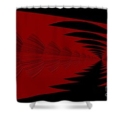 Red And Black Design Shower Curtain