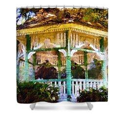 Owego Gazebo Courthouse Square Park Shower Curtain