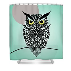 Owl 5 Shower Curtain by Mark Ashkenazi