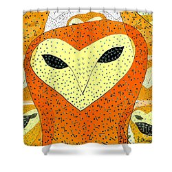 owl Shower Curtain by Barbara Moignard