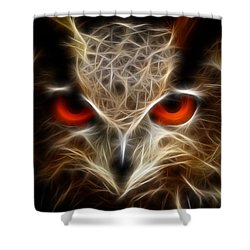 Owl - Fractal Artwork Shower Curtain by Lilia D