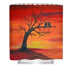 Owl Tell You Something Shower Curtain