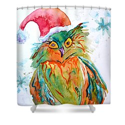 Owlellujah Shower Curtain by Beverley Harper Tinsley