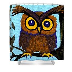 Owlette Shower Curtain by Genevieve Esson