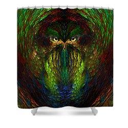 Shower Curtain featuring the digital art Owly Spirit - Fantasy Art By Giada Rossi by Giada Rossi