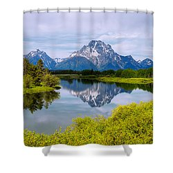 Oxbow Summer Shower Curtain by Chad Dutson
