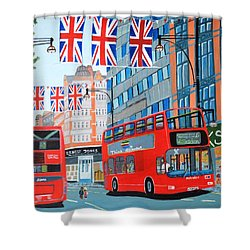 Oxford Street- Queen's Diamond Jubilee  Shower Curtain by Magdalena Frohnsdorff