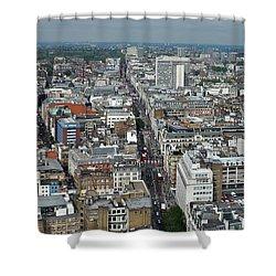 Oxford Street Vertical Shower Curtain by Matt Malloy