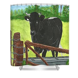 Oxleaze Bull Shower Curtain