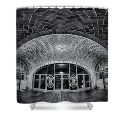 Oyster Bar Bw Shower Curtain by Susan Candelario