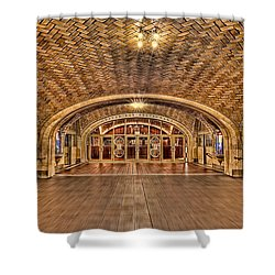 Oyster Bar Restaurant Shower Curtain by Susan Candelario