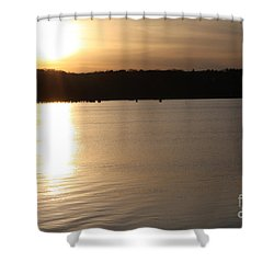 Shower Curtain featuring the photograph Oyster Bay Sunset by John Telfer