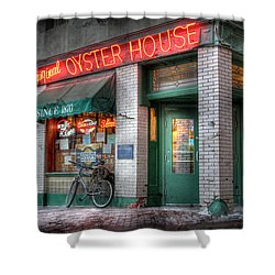 Oyster House Shower Curtain by Lori Deiter