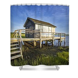 Oysterponds Creek Orient Ny Shower Curtain