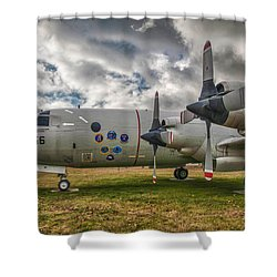 P-3a Shower Curtain by Guy Whiteley