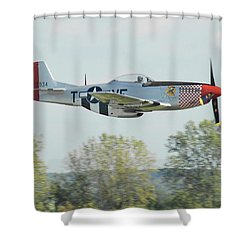 P-51d Mustang Shangrila Shower Curtain
