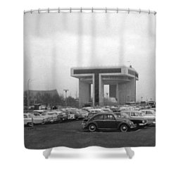 P O N Y A Building Shower Curtain