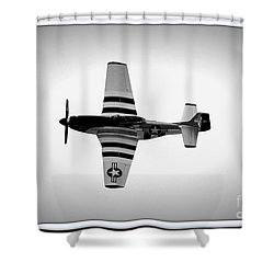 P51 King Of The Skies Shower Curtain by Kevin Fortier
