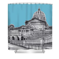 Pa Capitol Building Shower Curtain