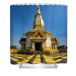 Pa Dong Wai Temple  Shower Curtain by Adrian Evans