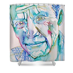 Pablo Picasso- Portrait Shower Curtain by Fabrizio Cassetta
