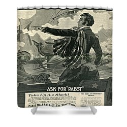 Shower Curtain featuring the digital art Pabst by Cathy Anderson
