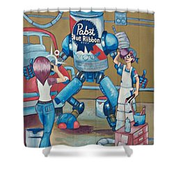 Pabst Mural In The Loop Shower Curtain