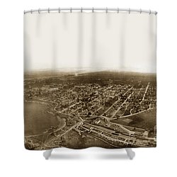 Pacific Grove 1200 From Feet Above Lovers Point And Monterey Bay 1906 Shower Curtain