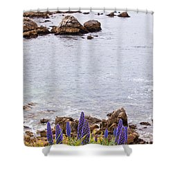 Pacific Grove Coastline Shower Curtain by Melinda Ledsome
