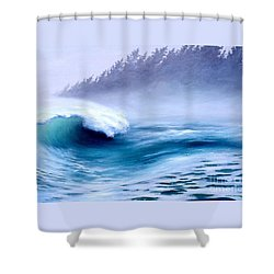 Shower Curtain featuring the painting Pacific Power  by Michael Swanson