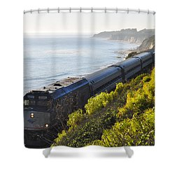 Pacific Surfliner Along The Central Coast Shower Curtain