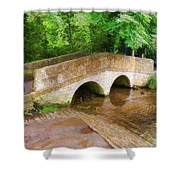 Pack Horse Bridge Shower Curtain