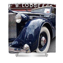 Shower Curtain featuring the photograph Packard 1207 Convertible 1935 by John Schneider