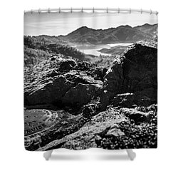 Packers Overlook Monochrome Shower Curtain