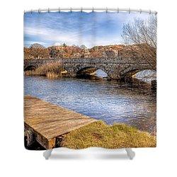 Padarn Bridge Shower Curtain by Adrian Evans