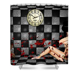 Padded Room Visions Shower Curtain by Kristie  Bonnewell