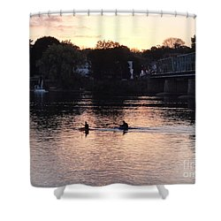 Paddling For Home Shower Curtain