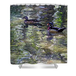 Paddling In A Monet Shower Curtain
